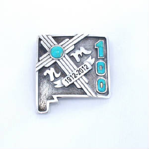 New Mexico Centennial Jewelry Pin Bolo Pendants with Zia.JPG