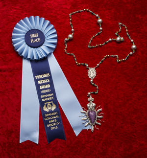 first place Traditional Spanish Market Rosary Santa Fe Gregory Segura Southwestern Silver Jewelry.jpg